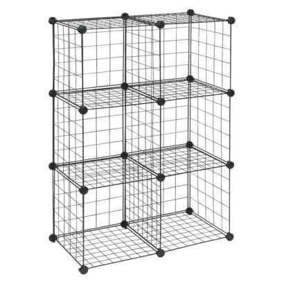Closetmaid Wire 6 Cube Organizer White Closetmaid 6 Cube Wire Organizer Black Use These To