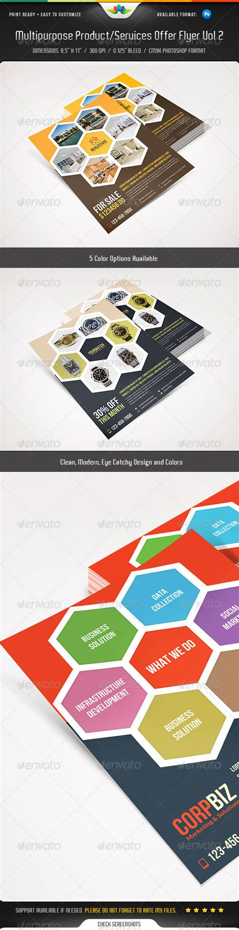 Template Multipurpose Vol Ii Brosur Banner Katalog Flyer Template Ikl multipurpose product services offer flyer vol 2 graphicriver