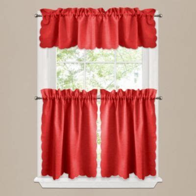 red tier curtains buy red curtain tiers from bed bath beyond