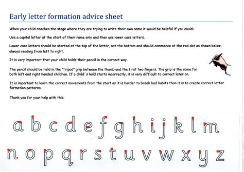 Pre Offer Advice Letters Early Letter Formation Advice Sheet East Hanningfield