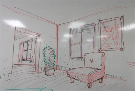 interior of a house inside of a house drawing modern house