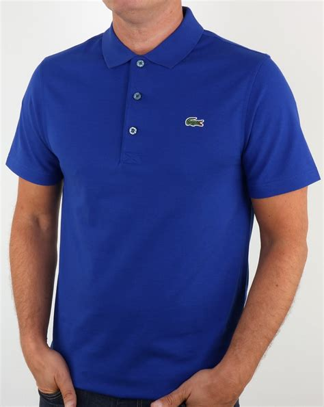 Blue Polo by Lacoste Polo Shirt Blue S Pique Cotton