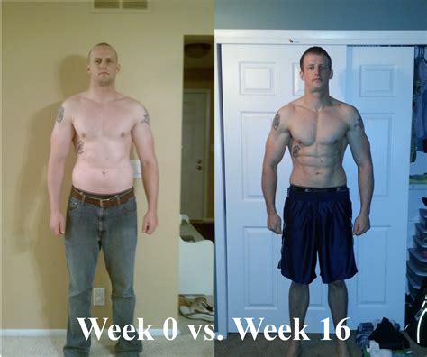 before and after working out 16 week checkpoint goal slayer
