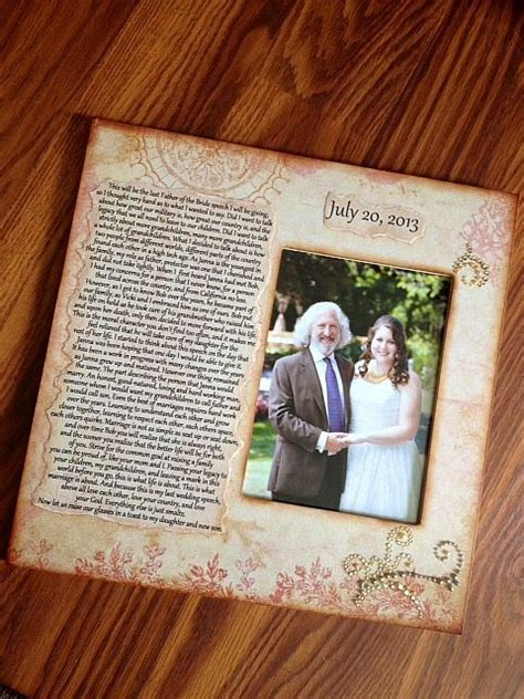 wedding speech picture frame of the by crystalbucket 50 00 wedding ideas