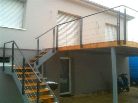 terrasse ossature métallique terrasse suspendue ossature metallique