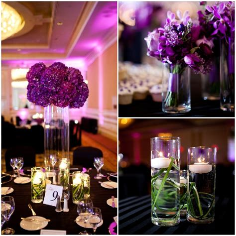 purple and green centerpieces for weddings traditional wedding with a vibe