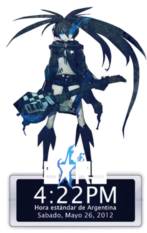 black rock shooter rainmeter skin black rock shooter clock for rainmeter by iakiitha on