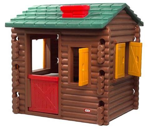 Plastic Log Cabin Playhouse by Tikes Log Cabin Garden Playhouses Garden Toys Ebay