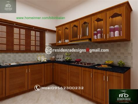 kerala style home kitchen design kerala kitchen interior designs by residenza designs