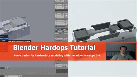 blender tutorial addon a look at hard surface modeling using hard ops add on for