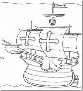 los tres barcos de cristobal colon en dibujo crist 243 bal col 243 n para colorear descubrimiento de am 233 rica