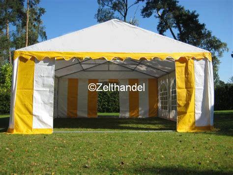 pavillon 5x4 partyzelt festzelt pavillon zelt 5x4 m gelb weiss pvc ebay