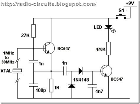 capacitor in rf circuit radio circuits simple rf tester