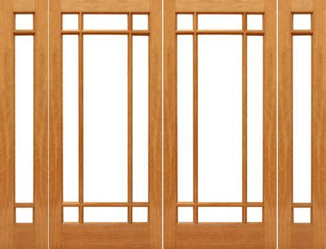 Patio Doors With Sidelights Prehung 9 Marginal Mahogany Ig Glass
