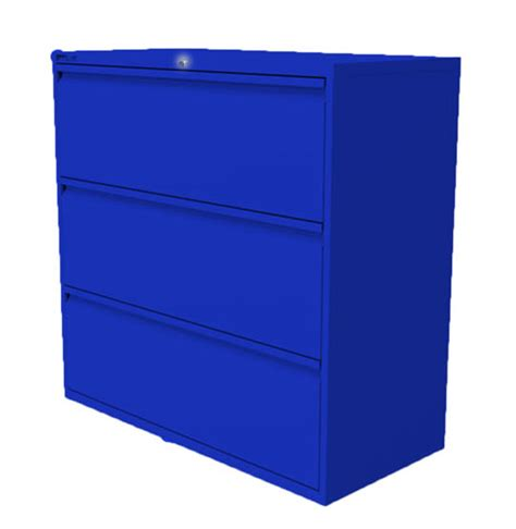 Blue Filing Cabinet by 3 Drawer Blue Side Filing Cabinet