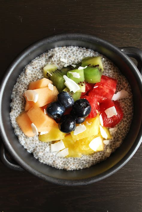 fruit and chia end of summer fruit and chia bowl fooduzzi