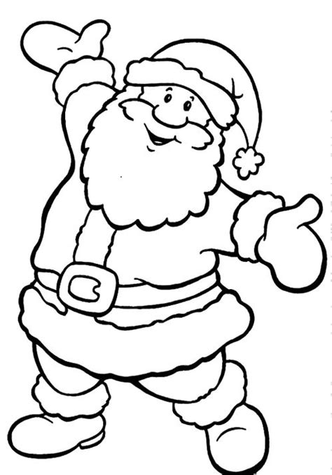 santa coloring sheets santa claus coloring pages for merry