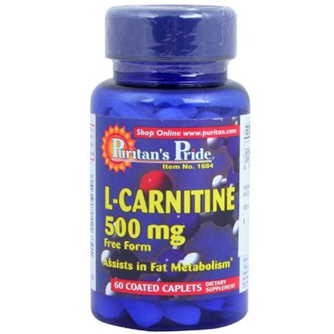 Puritans Pride L Carnitine 500 Mg Pembakar Lemak P Murah puritan s pride l carnitine 500mg for weight loss metabolism and increased fertility