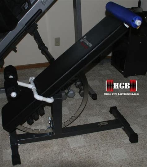homemade decline bench homemade hyperextension bench using the ironmaster super bench