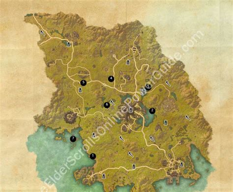 betnikh treasure map elder scrolls treasure maps world map 07