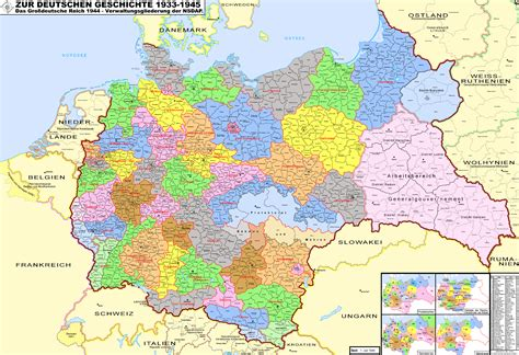 map of germany 1944 third reich 1944 size