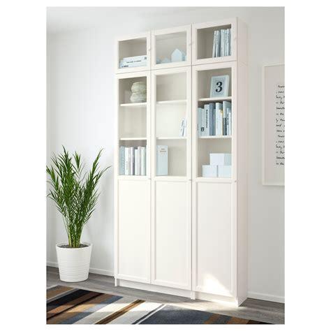 Billy Oxberg Bookcase White Glass 120x237x30 Cm Ikea White Glass Bookcase