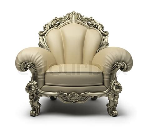 Luxury Armchair by Luxury Armchair Of Beige Colour With A Silver Decor
