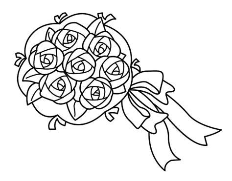 mazzi di fiori da colorare disegno di mazzo di gardenie da colorare acolore