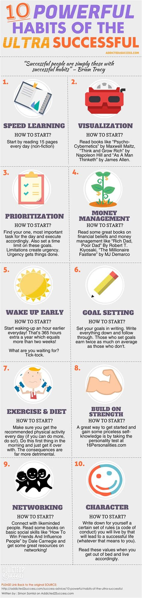 Infographic 24 Daily Habits That Will Make You Smarter Designtaxi 10 Powerful Habits Of Ultra Successful