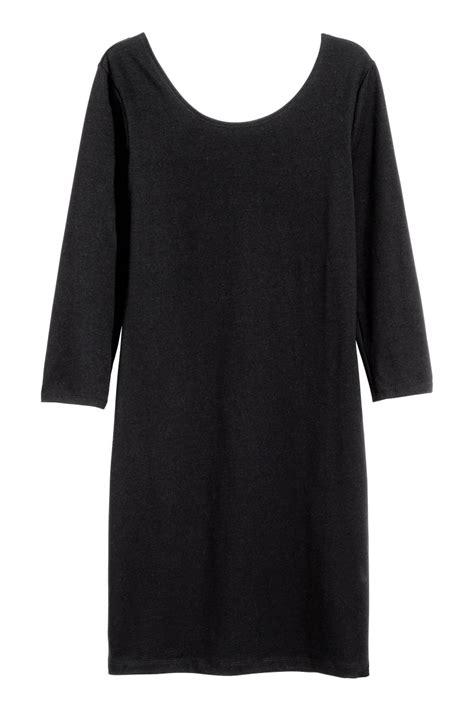 H M Jersey Comfortable jersey dress black sale h m us