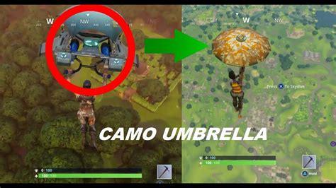 fortnite gliders fortnite battle royale how to get camo umbrella camo