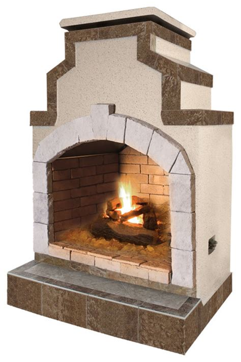 48 quot propane gas outdoor fireplace in porcelain tile