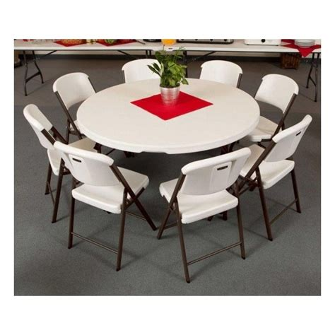 lifetime tables and chairs lifetime 4 tables 32 chairs set white