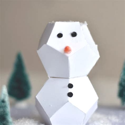 How To Make A Snowman With Paper - 9 quot snow quot adorable snowmen crafts for craft paper