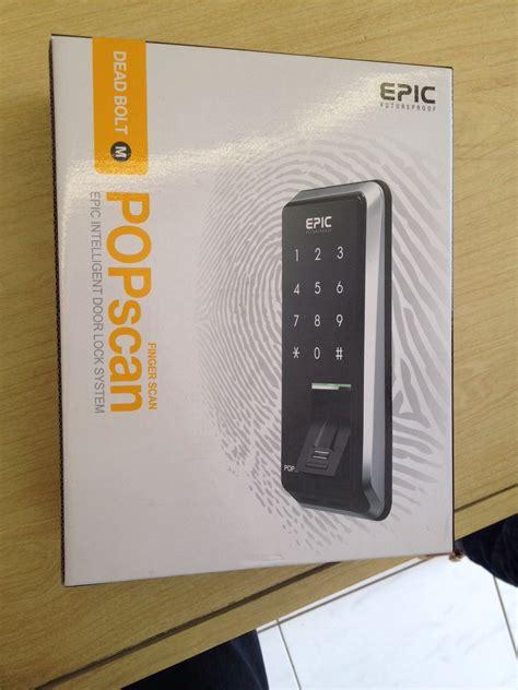 Kunci Pintu Merk Jass jual kunci pintu digital merk epic popscan fingerprint aynda shop