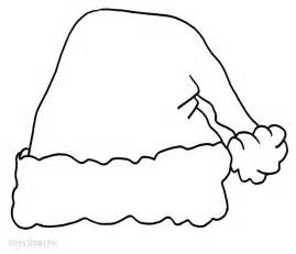 santa hat coloring page printable santa hat coloring pages for cool2bkids