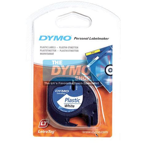Label Letratag Dymo Plastic Clear Dymo Letratag dymo 12mm white plastic letratag 91201 dymo label printers from the dymo shop