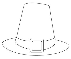 pilgrim hat cut out template mondays coloring pages in peace