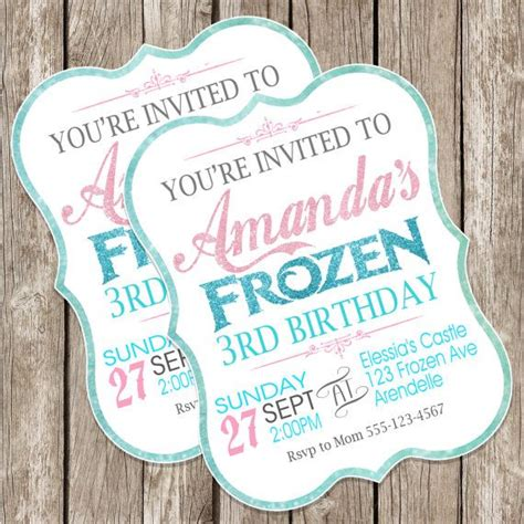 75 diy frozen birthday party ideas about family crafts frozen party invitations diy www pixshark com images