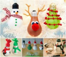 Crafts For Decorating Your Home Creative Ideas Diy Light Bulb Christmas Ornaments