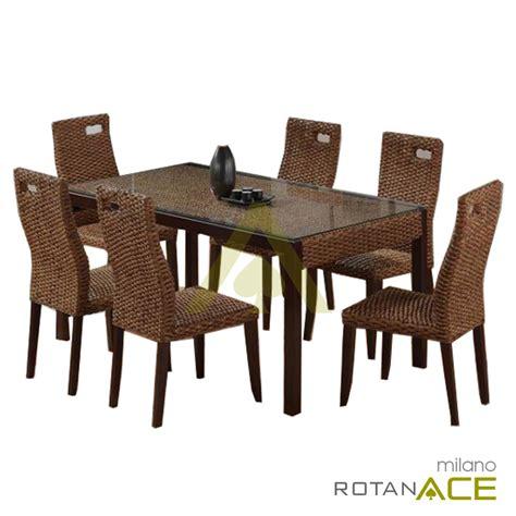 Meja Makan Ace Hardware jual meja makan rotan set 6 seats harga lebih murah