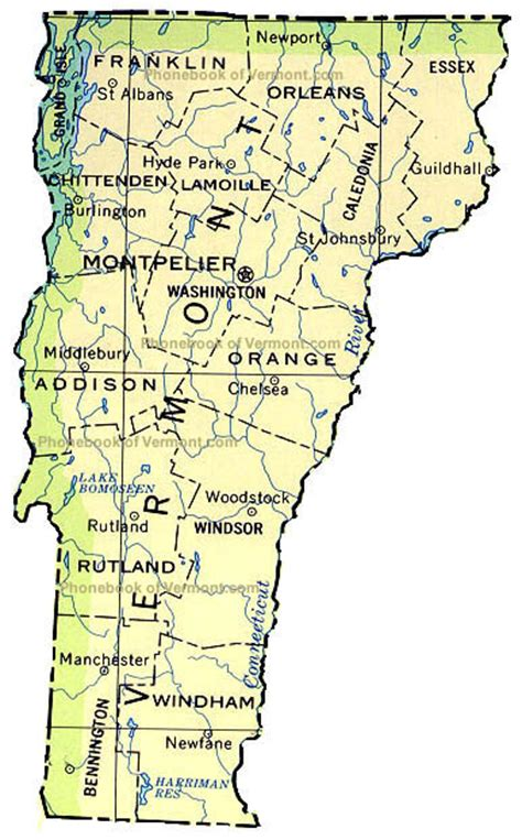 map of usa vermont map of vermont outravelling maps guide