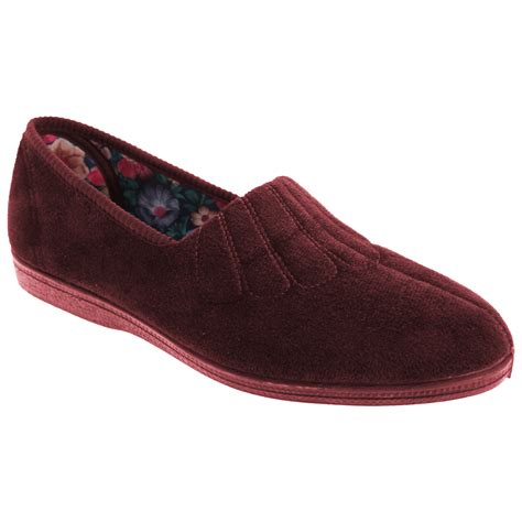 wide slippers sleepers womens zara fan stitch wide fitting