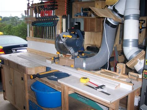 drop saw bench
