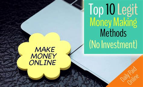 Making Money Online Without Investment - top 10 legit ways to make money online without investment