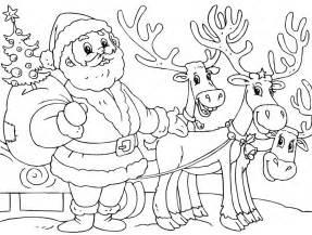 printable santa reindeer coloring christmas coloring scouts