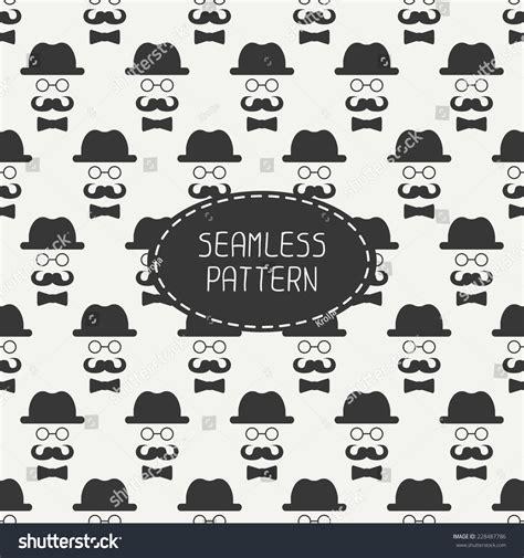 pattern hipster vector vector seamless pattern vintage hipster gentleman stock