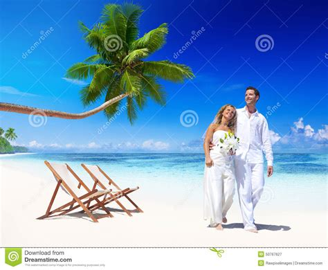 Vacations For Married Couples Getting Marriage Vacation Concept Stock Photo