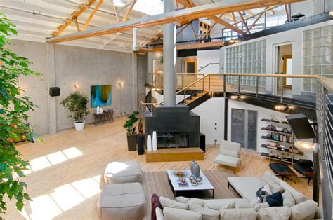home design warehouse miami spacious loft home inspired from airplane hangar design