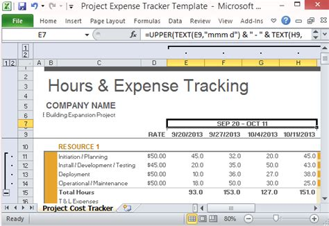 document tracker excel template project expense tracker template for excel